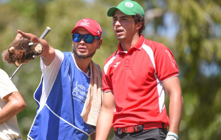 Panama City, Panama: Alvaro Ortiz of Mexico pictured at the 2017 Latin America Amateur Championship at the Club de Golf de Panama during Round Three on January 14th . (Photo by Enrique Berardi/LAAC)