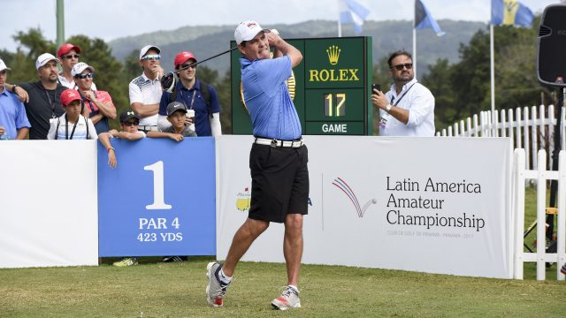 Panama City, Panama: Pictured at the 2017 Latin America Amateur Championship at the Club de Golf de Panama during Round Three on January 14th . (Photo by Enrique Berardi/LAAC)