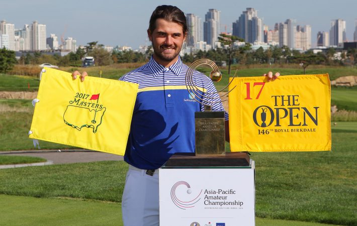 Curtis Luck, of Australia, wins the Asia-Pacific Amateur Championship in South Korea