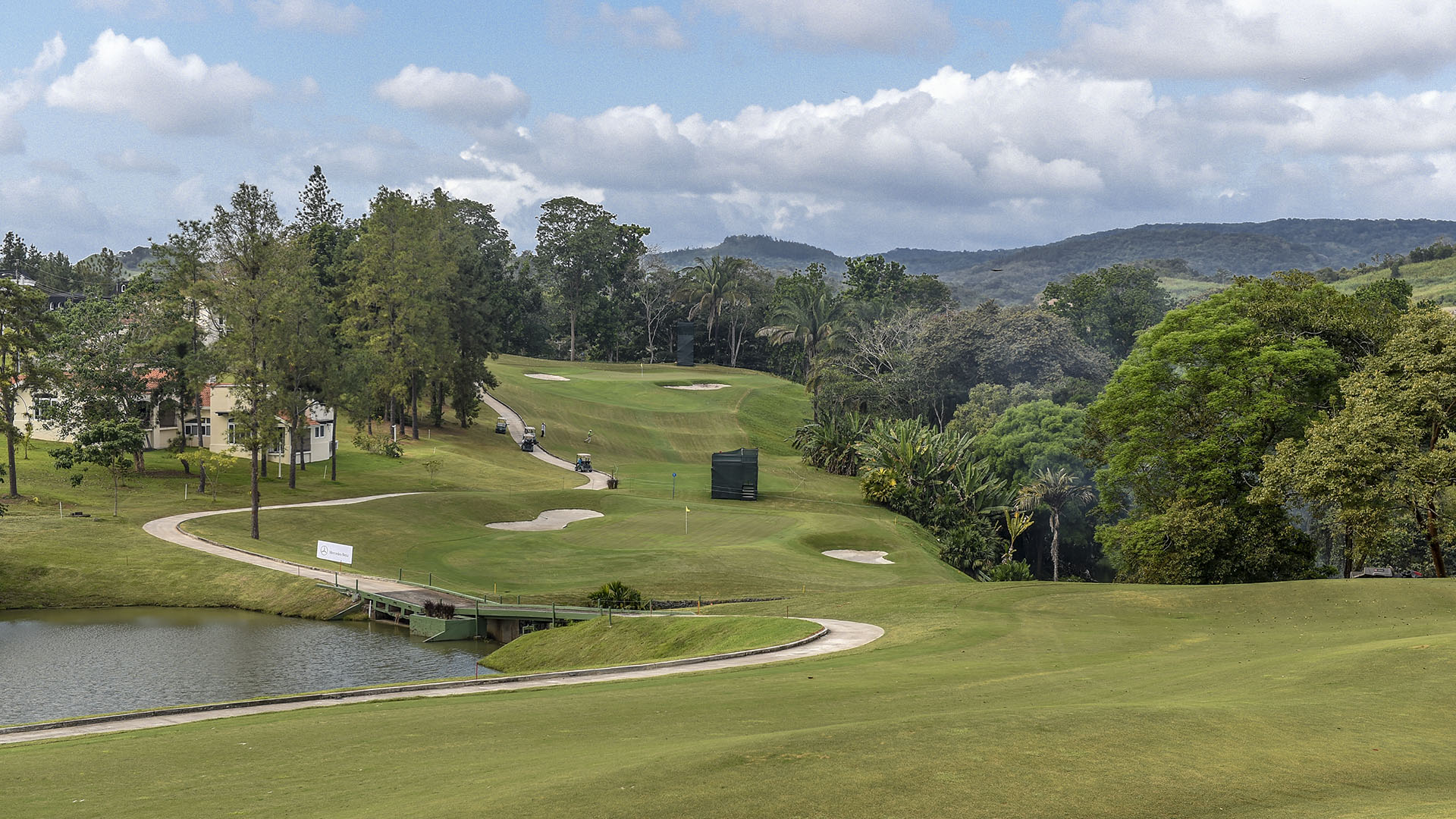 Panama City, Panama: General view of the 7th hole pictured at the 2017 Latin America Amateur Championship at the Club de Golf de Panama during Practice Round on January 8th. (Photo by Enrique Berardi/LAAC)