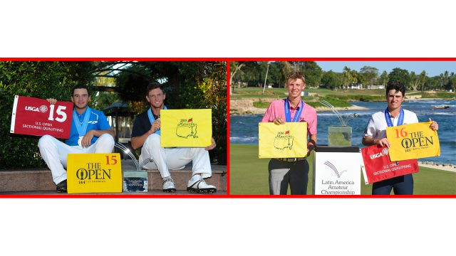 Left: LAAC 2015 runner-up Alejandro Tosti and champion Matias Dominguez. Right: LAAC 2016 champion Paul Chaplet and runner-up Jorge Garcia