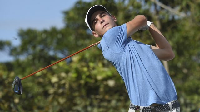 Panama City, Panama: Joaquin Niemann of Chile pictured at the 2017 Latin America Amateur Championship at the Club de Golf de Panama during Practice Round on January 10th . (Photo by Enrique Berardi/LAAC)