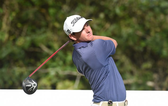 Panama City, Panama: Matias Dominguez of Chile pictured at the 2017 Latin America Amateur Championship at the Club de Golf de Panama during Practice Round on January 10th . (Photo by Enrique Berardi/LAAC)