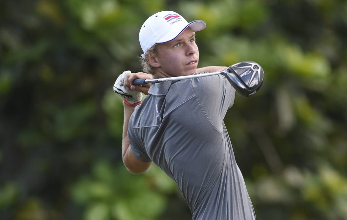 Panama City, Panama: Paul Chaplet of Costa Rica pictured at the 2017 Latin America Amateur Championship at the Club de Golf de Panama during Practice Round on January 10th . (Photo by Enrique Berardi/LAAC)