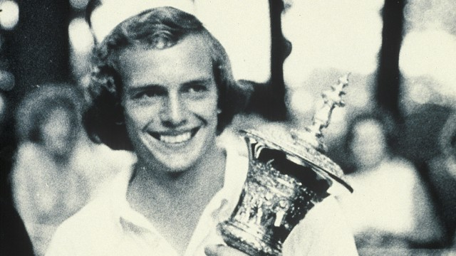 Jerry Pate after winning the 1974 U.S. Amateur Championship at Ridgewood Country Club in Ridgewood, New Jersey.  (Copyright unknown/Courtesy USGA Archives)