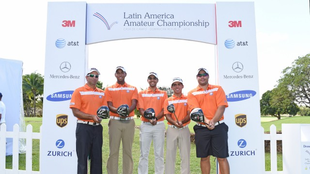 La Romana, Dominican Republic JANUARY 2016: Dominican Republic Golf Players during the practice round of the 2016 Latin America Amateur Championship at CASA DE CAMPO  on Tuesday January 12th, 2016. Enrique Berardi/LAAC.